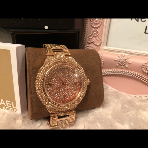 ca02111002acb MICHAEL KORS Watch Camille Rose Gold